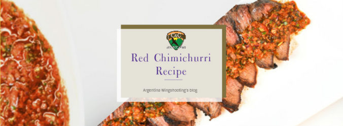 red chimichurri recipe argentina dove hunting