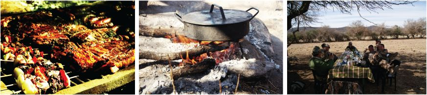 Argentinian Asado (Barbecue) - Lunch hunters - Argentina Dove Hunting